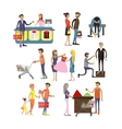 set of cartoon characters isolated on white vector image vector image
