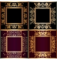 Set of frame with lace square ornament vector image