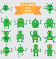 Set of green robots for design vector | Price: 1 Credit (USD $1)