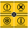 set of grunge warning banners vector image vector image