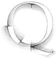 Sketch font Letter Q vector image vector image