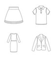 skirt t-shirt sweater dress with long sleeves vector image