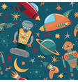 Space invaders background vector image