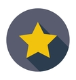 Star Single flat icon vector image vector image