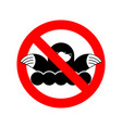 stop mole ban shrew red prohibitory road sign vector image vector image