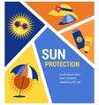 sun protection vector image vector image