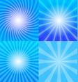 Sunrays backgrounds set vector image