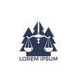 tree law logo design vector image vector image