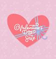 valentine s day sale banner design template vector image