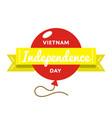 vietnam independence day greeting emblem vector image vector image