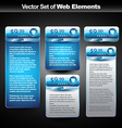 web display banner with space for your text vector image vector image