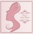 woman s silhouette vector image