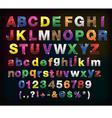 creative alphabet metal border set for your design vector image