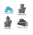 home and building contruction logo compilation vector image