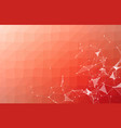 abstract red polygonal space background with vector image vector image