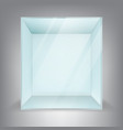 ad empty square glass pos poi outdoorindoor 3d vector image vector image
