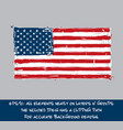 american flag flat - artistic brush strokes vector image vector image