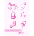 bashower girl icons set design vector image