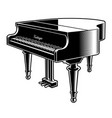 black and white of the piano vector image vector image