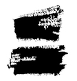 Black Grungy Abstract Hand-painted Brush Strokes vector image vector image