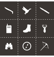 black hunting icons set vector image