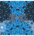 Blue seamless pattern with flowery mandalas vector image vector image