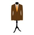 brown businessman suit vector image vector image