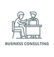 business consulting line icon