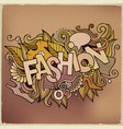 cartoon cute doodles hand drawn fashion vector image vector image