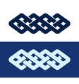 celtic knot - decorative pattern vector image vector image
