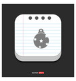 christmas ball icon gray icon on notepad style vector image