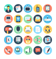 Communication Flat Icons 1 vector image