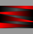 contrast abstract red black tech corporate vector image vector image