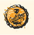 craft beer cap pub sketch vector image vector image