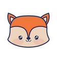 cute fox animal baby vector image