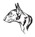 decorative portrait bull terrier dog vector image