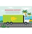 Delivery truck service van silhouette vector image vector image
