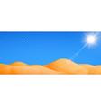 desert realistic landscape vector image