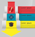 Education Stair Template Info Graphic vector image vector image