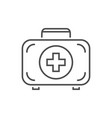 first aid kit related thin line icon vector image vector image