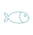 fish linear symbol marine animal sign isolated vector image vector image
