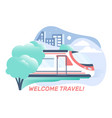 flat travel composition vector image