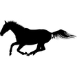 galloping horse silhouette vector image