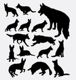 German shepherd pet dog silhouette vector image vector image