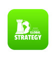 global strategy icon green vector image