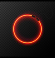 glowing neon effect shining abstract circle vector image