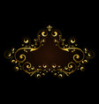 gold frame with pattern of vector image vector image