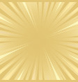 golden tone comic flat style background vector image