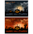 halloween night background with pumpkin and full vector image vector image