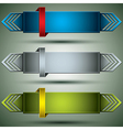 Horizontal 3d banners vector image